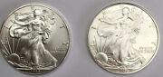 2006 And 2014 American Silver Eagle  1.00 Coins