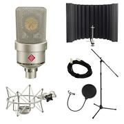 Neumann Tlm 103 Studio Microphone Kit Bundle With Rf-x, Cable, Pop Filter, Stand