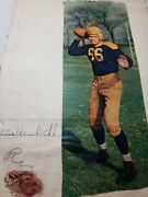 Vintage 1940and039s Football Clippings Scrapbook Sid Luckman Pro College Nj Action