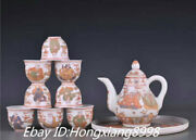 8and039and039china Ming Dynasty Chenghua Color Porcelain 18 Arhat Buddha Teapot Statue Set