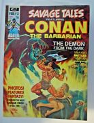 Lot Of 14 Savage Tales Featuring Conan The Barbarian 3 The Demon From The Dark