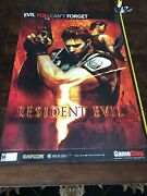 Resident Evil 5 Posters - Gamestop Window Display 48x33. Impossible To Find