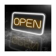 Led Neon Open Sign, 16x 9new Electric Signs, Ultra Bright For Busines Signs...