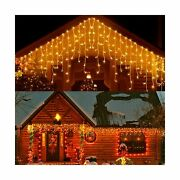 33ft 400 Led Icicle Lights Outdoor, Christmas Decorations Lights, Outdoor Eav...