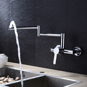 Retractable Faucet Wall Mount Tap Warm And Cold Water Copper Core Basin Rotary