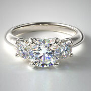 1.10 Ct Natural Diamond Solid 14k White Gold Women Anniversary Ring Size 4 5 6 8