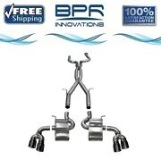 Corsa 304 Ss Cat-back Exhaust System W/quad Rear Exit For Camaro 16-19 14770blk
