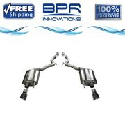 Corsa 304 Ss Axle-back Exhaust System Split Rear Exit For Mustang 15-17 14339blk