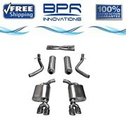 Corsa 304 Ss Cat-back Exhaust System Quad Rear Exit For Challenger 11-17 14986