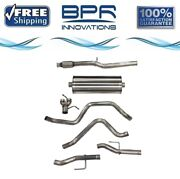 Corsa 304 Ss Cat-back Exhaust System With Split Rear Exit For Chevy/gmc 21034