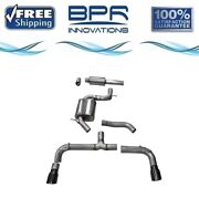 Corsa 304 Ss Cat-back Exhaust System Split Rear Exit For Golf Gti 14-18 14834blk