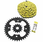 2003 2004 Polaris Predator 500 Yellow O-ring Chain And Black Sprocket 14/38 94l