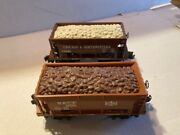 Lionel Trains 6-19321 Bandle And 6-19322 Chicago And Northwestern Ore Car With Load