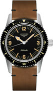 Longines 42mm Skin Diver Black Dial Menand039s Diving Automatic Watch L2.822.4.56.2