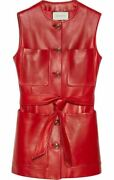 Leather Vest-with Tags- Rrp3990 Aud