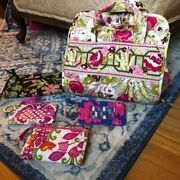 Lot Of 5 Vera Bradley Pieces | Makeup Organizer, Id Case And Wallets