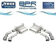 Corsa 304 Ss Axle-back Exhaust System Quad Rear Exit For Camaro 16-21 14789