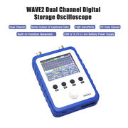 2 Channel Handheld Oscilloscope Wave2 Dds Function Generator 2.4 Touch Screen