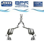 Corsa 304 Ss Cat-back Exhaust System With Quad Rear Exit For Mustang 18-20 21048