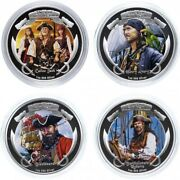 Niue 2 Dollars 2011 Pirates Of The Caribbean Silver, Ounce Set Of 4 Coins