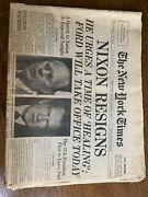 Nixon Resigns Newspaper, The New York Times, 1974 August 9 City Edition