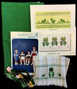 Lot Smocking Plates Finished Design Cranston Quilt Shop Fabric No Sewing Pattern