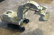 Conrad Terex Rh 120 E Track Excavator Made In Germany Metal Die Cast Toy White