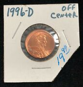 1996-d Off Center Lincoln Memorial Penny