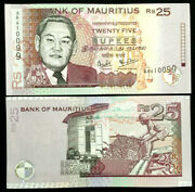 Mauritius 25 Rupees 2003 Banknote World Paper Money Unc Currency Bill Note