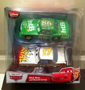 Disney Store Cars Chick Hick And Darrell Cartrip Diecast 2-pack Exclusives New