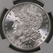 1881-s Morgan 1 Ngc Certified Ms67 San Francisco Minted Us Silver Dollar Coin
