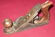 Size 4 Wood Plane Parts W/ Pressed Steel Frog - Worth Or Fulton No Lever Cap