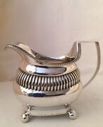 Antique George Iii Sterling Silver Bulbous Shaped Jug Hallmarked London 1809.