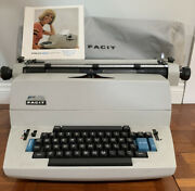Facit Typewriter 1820 W/ Cover And Manual For Parts Only-turns On And Types