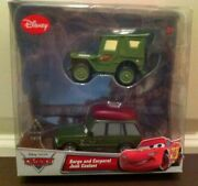 Disney Store Cars Sarge And Corporal Josh Coolant Diecast 2 Pack Exclusives New