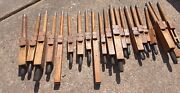 Vintage Architectural Church Salvage - 21 Wood Pipe Organ Tubes Flue Pipes