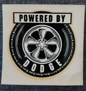 Vintage 1960and039s Water Decal Powered By Dodge Hot Rod Drag Racing Hemi Gasser Old