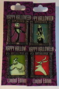 Disney Pin Dlr Nightmare Before Christmas Halloween Le 1500 Set Of 4 Pins