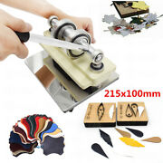 215x100 Mm Manual Leather Cutting Machine Die Cut And Leather Embossing Machines