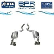 Corsa 304 Ss Axle-back Exhaust System W/quad Rear Exit For Mustang 15-18 14334