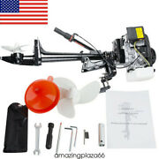 Us Professional 4-stroke 3.6hp Outboard Motor 55cc Boat Engin Air Cooling Ups Ce