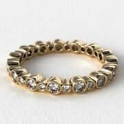 0.68 Carat Real Diamond Anniversary Band Solid 14k Yellow Gold Sizes Selective