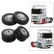 2 Pack Of Rc Car 85mm Rubber Tyres For Tamiya Tractor Truck Spare Parts