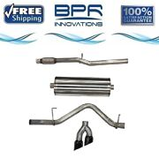 Corsa 304 Ss Cat-back Exhaust System With Dual Side Exit For Chevy/gmc 21030blk