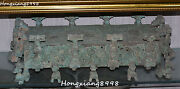 Old Bronze Ware Pixiu Dragons Beast Table Desk Salver Plate Dish Tray Statue
