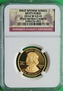 2016 W Betty Ford First Spouse Coin 1/2 Oz 99.9 Pure Gold Ngc Pf 69 Ucam Rare