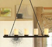 Pottery Barn Veranda 5-candle Line Chandelier Bronze Sold Out Retired So Htf