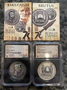 7k Exclusive Caesar And Brutus 1oz Silver Coin Ms70 Only 500 Minted Super Rare