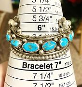 💙signed Native American Dead Pawn Turquoise Cuff Bracelet Excellent ‼️