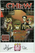 Chew 1 Retailers Ri Variant Signed Layman And Guillory Image Card/board Game Nm